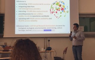 Picture 3. Massimiliano Assante introduces the main features of the DESIRA Virtual Research Environment
