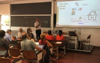 Picture 4. Gianluca Brunori explains the concept of socio-cyber-physical systems